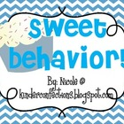 Chevron and Cupcakes Behavior Clip Chart