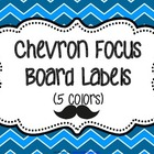 Chevron and Mustache Focus Wall Labels - Primary Colors