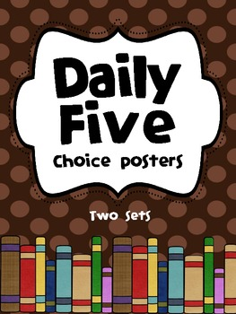 Chevron and Striped - Daily 5 Choice Posters
