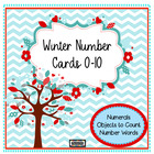 Chevrons and Posies Number Cards 0 - 10 {Preschool}