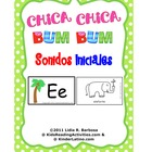 Chica Bum sonidos iniciales (beginning sounds in Spanish)