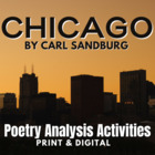 """Chicago"" by Carl Sandburg Activity Pack"