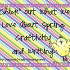 """Chick"" Out What We Love About Spring Craftivity and Writi"