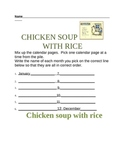 Chicken Soup with Rice-Calendar Book Response
