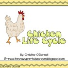 Chicken life cycle: teacher book, minibook, craftivity, an
