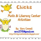 Chicks Math and Literacy Centers