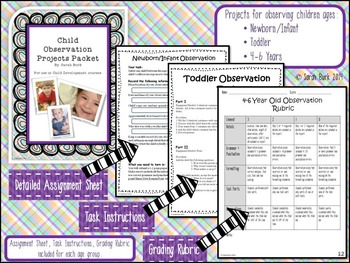 Child Observation Projects Packet - Child Development