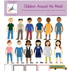 Children Around the World Graphics Set
