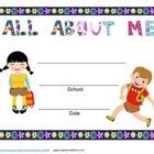 "Child's School Journal ""All About Me"" Beginning & End of Y"