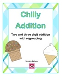 Chilly Addition: 2 and 3 digit addition with regrouping