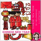 Chinese New Year LINE ART bundle by melonheadz