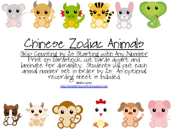 Chinese New Year Zodiac Animals Count by 2s