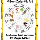 Chinese New Year Zodiac Clipart-for commercial and personal use.