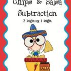 Chips and Salsa Subtraction Math Center (2 digit - 1 digit)
