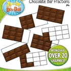 Chocolate Bar Fractions Clipart  Over 20 Graphics!