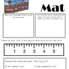 Chocolate Dream Candy Bar Math Mat ~ FREE