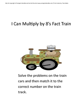 Choo Choo Multiplication by 8's