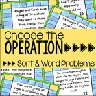 Choose the Operation - Sort and Word Problems