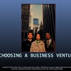 Choosing a Business Venture