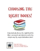 Choosing the Right Book Handout