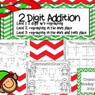 Christmas 2 digit addition Bundle (Levels 1,2,3)
