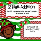 Christmas 2 digit addition Level 3