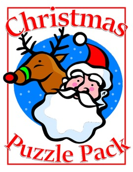 Christmas Activity Puzzle Pack--Fifteen Pages of Puzzles, Games, and More!