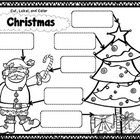 Christmas Activity - cut, label, color {word recognition}