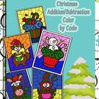 Christmas Addition and Subtraction Color by Code