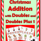 Christmas Addition with Doubles Matching Activity