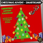 Christmas Advent Calendar - 25 Activities for your SMARTboard