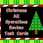 Christmas All Operations Task Cards FREEBIE