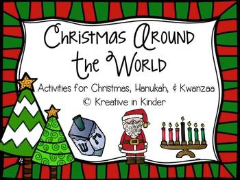 Christmas Around The World, Hanukkah, & Kwanzaa Literacy &