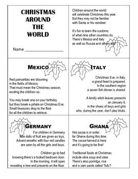 Christmas Around The World / Holiday Traditions