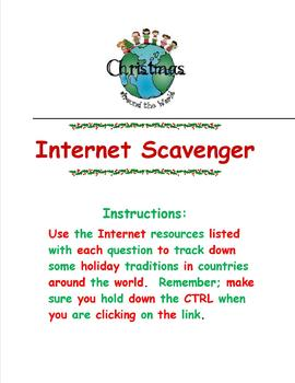 Christmas Around the World Internet Scavenger Hunt