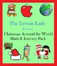 Christmas Around the World Math &amp; Literacy Worksheet Packet