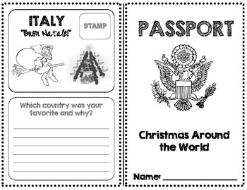 Christmas Around the World Passport! (17 Countries)
