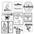 Christmas Around the World Suitcase Stamps and Handles