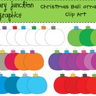 Christmas Ball Ornament Clip Art Set