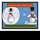 Christmas Basic Math Fact Addition and Subtraction Practic