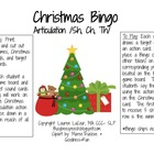 Christmas Bingo - Articulation Sh/Ch & Th