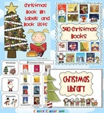 Christmas Book Bin Labels and Book Lists for Classroom Lib