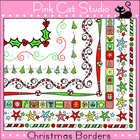 Christmas Borders Clip Art - Personal or Commercial Use