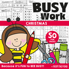 Christmas Busy Book - Printable Worksheets Kindergarten