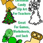 Christmas Candy Clip Art For Games, Worksheets, And Such