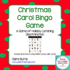 Christmas Carol Bingo Game