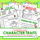 Christmas Character Traits {Mini Activities - CCSS}