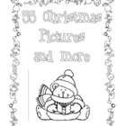 Christmas Clip Art Pages - Black and White - Printable - 67 pages
