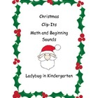 Christmas Clip-It Counting and Beginning Sounds