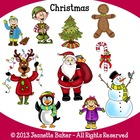 Christmas Clip Art by Jeanette Baker